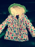 Girl's pink owl coat size 4T