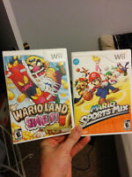 2 awesome cool wii games.   10$ each firm