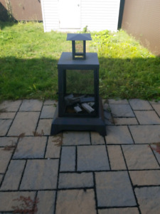 Outdoors fire place