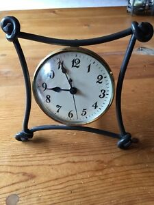 Hand forged wrought iron clock