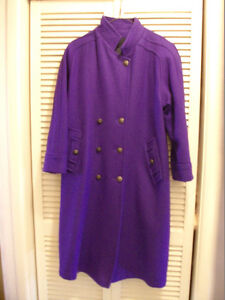 Blue winter wool coat, never worn excellent condition Peterborough Peterborough Area image 1