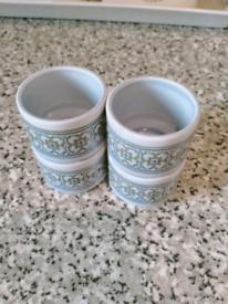 HORNSEA EGG CUPS X 4