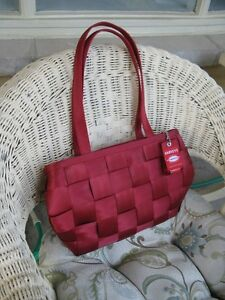 RED  SEATBELT  PURSE  by  Harvey's