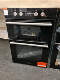 Brand New Hotpoint DD2844CBL 60cm Built-In Double Electric Oven - Blac