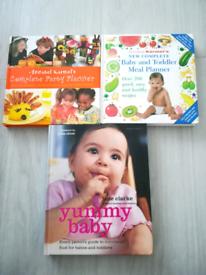 3x Baby/Toddler Recipe books