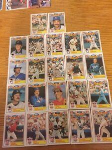 Full Set of 22 1988 Topps Baseball Cards - Mint