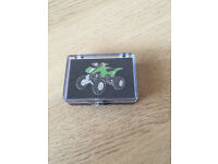 Kawasaki green race quad KFX450 pin badge *new*