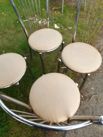 1960s chrome cushioned chairs