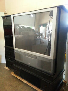 HDTV Comes With Media TV Stand Strathcona County Edmonton Area image 2