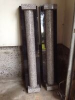 Two granite columns perfect condition