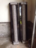 Two granite columns columns perfect condition