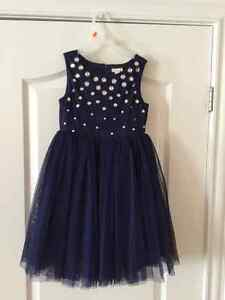 Navy Blue tulle dress, size 5 girls