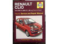 Renault Clio Y to 55 reg Haynes Manual