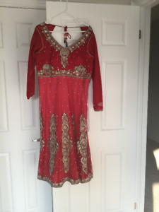 Indian Anarkali Suit - Red Ombré Style