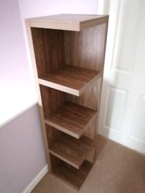 Next Wood Veneer Corner Bookcase