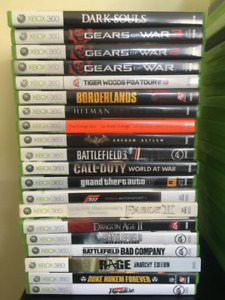Xbox 360! Video Game Lot in Perfect Condition! Between 5$-30$ !