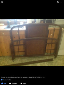 Old style bed frame