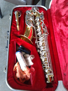 Sax and case