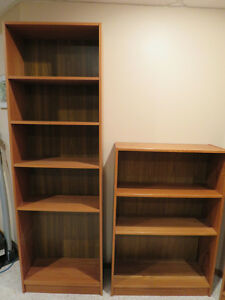 2 Teak Wood Shelf Units