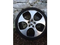 18 inch alloys and tyres. GTI Golf type.
