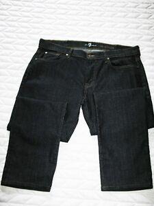7 All For Mankind Designer Blue Jeans -  size 38 waist 31 leg