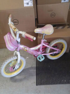 Girls Disney Princess Pink Bike
