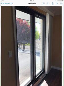 Brown alum doors
