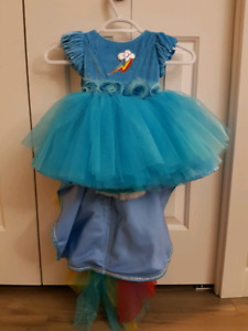 Rainbow dash gown for girl