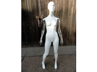 Female Full Body Ghost White Mannequin from fashion outlet.
