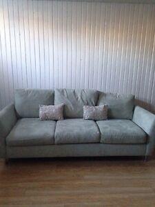 Sofa / couch MAX home de Mobilia Bleu-gris/ light blue-grey