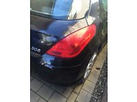Peugeot 308 208 plate back light