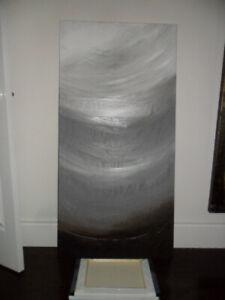 "Modern grey painting acrylic 24""x 48"""