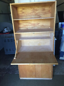 Solid Wood Bookcase/Desk