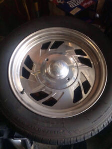 """for sale 5x127 chrome centerline rims 17""""and tires."""