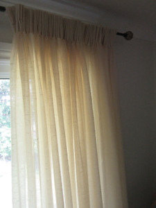 Silk Sheer Curtains - 2 double panels Professionally Made