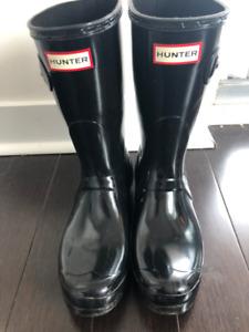 Women's Hunter Boots - Black Gloss - Size 9