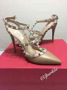 New Authentic Valentino Rockstud Pump Nude size 37