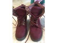 Ladies size 4 New Look Burgundy boots