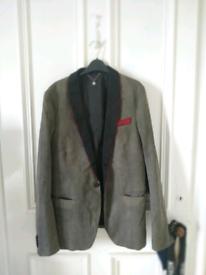 (custom) Diesel x Harris Tweed embroidered smoking jacket