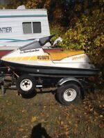 Old sea doo and trailer.   REDUCED