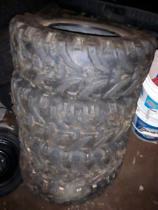 """Set of 25"""" Bear claw tires"""
