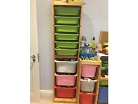 Trofast 9 drawers IKEA pine children's shelving until with drawer pull outs