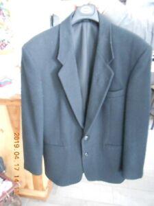 Manteau laine et cashmere noir grandeur (40) homme