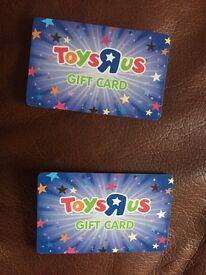 2 x £10 toys r us gift cards