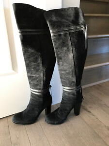 Womens Over the knee suede/leather boots Made in Italy