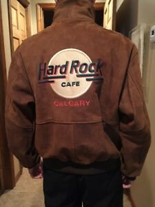 Leather Suede Men's Jacket Hard Rock Café