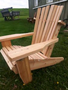 Dutch made custom muskoka chairs.rocking chairs plus more