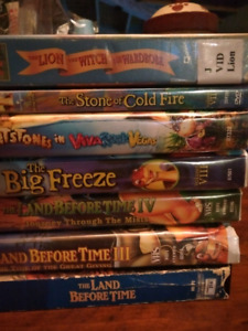 Vhs and 1 dvd lot