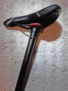 Mountain bike seat, saddle. Sturdy, light, and in great shape!