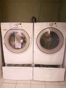 matching whirlpool washer dryer and pedestals